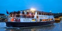 Golden Flame cruising the Thames on a summer's evening