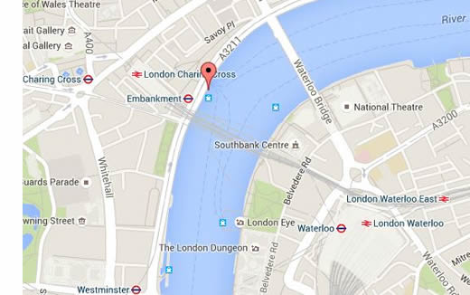 Embankment Pier London Boat Hire Thames Capital Pleasure Boats